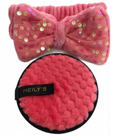 Kit Limpeza Facial Esponja e Faixa - Meilys (MAC288) CORES SORTIDAS