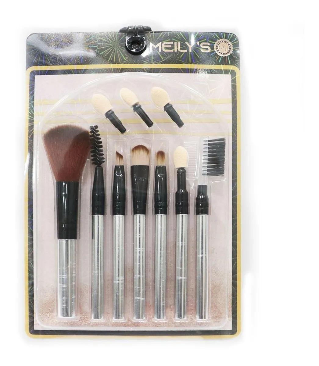 Kit Pinceis Para Maquiagem (MKP-162) Cores Sortidas- Meilys