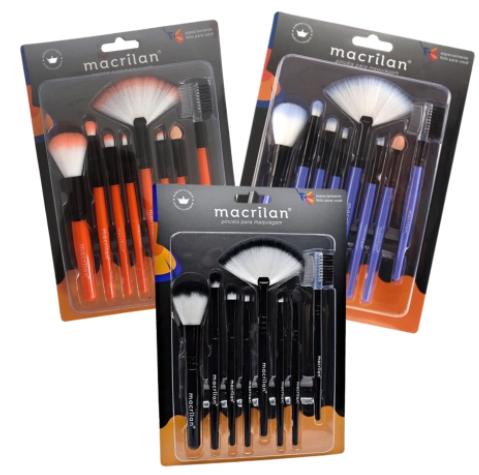 Kit Pincel para Maquiagem - Macrilan (KP3-1A)