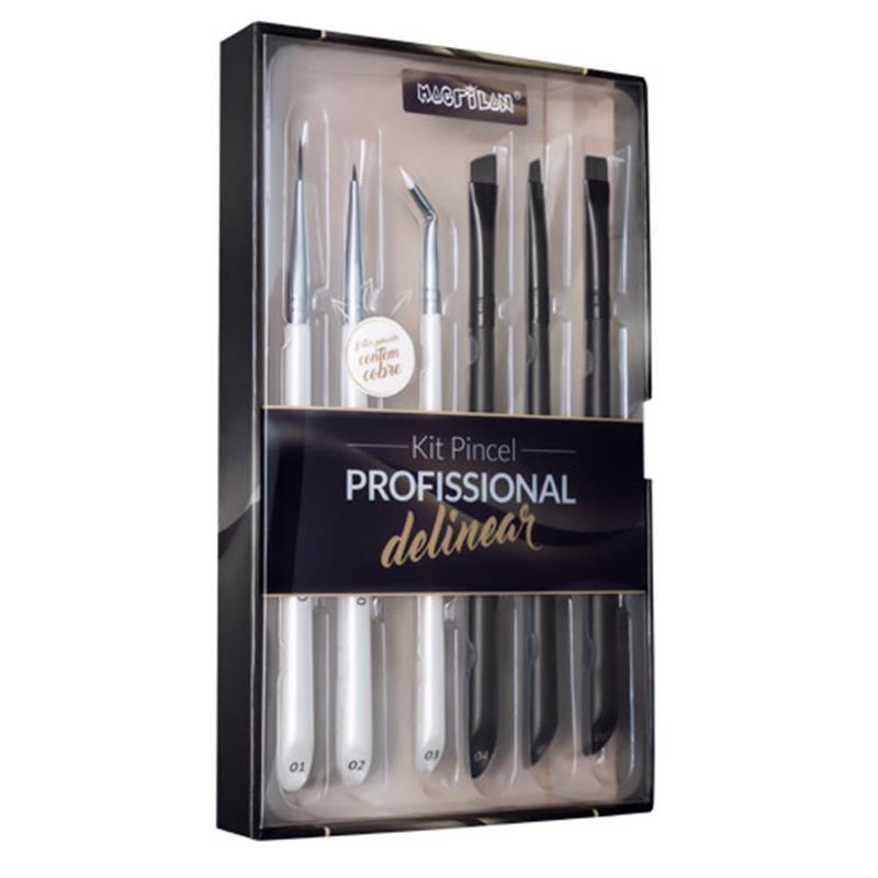 Kit Pincel Profissional para Delinear - Macrilan (WB700)