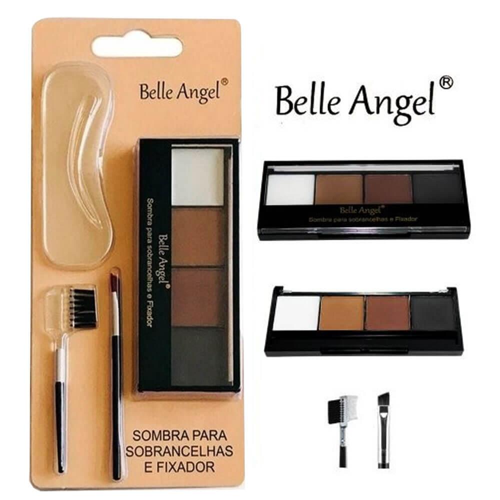 Kit Sombra para Sobrancelhas e Fixador - Belle Angel (B045)