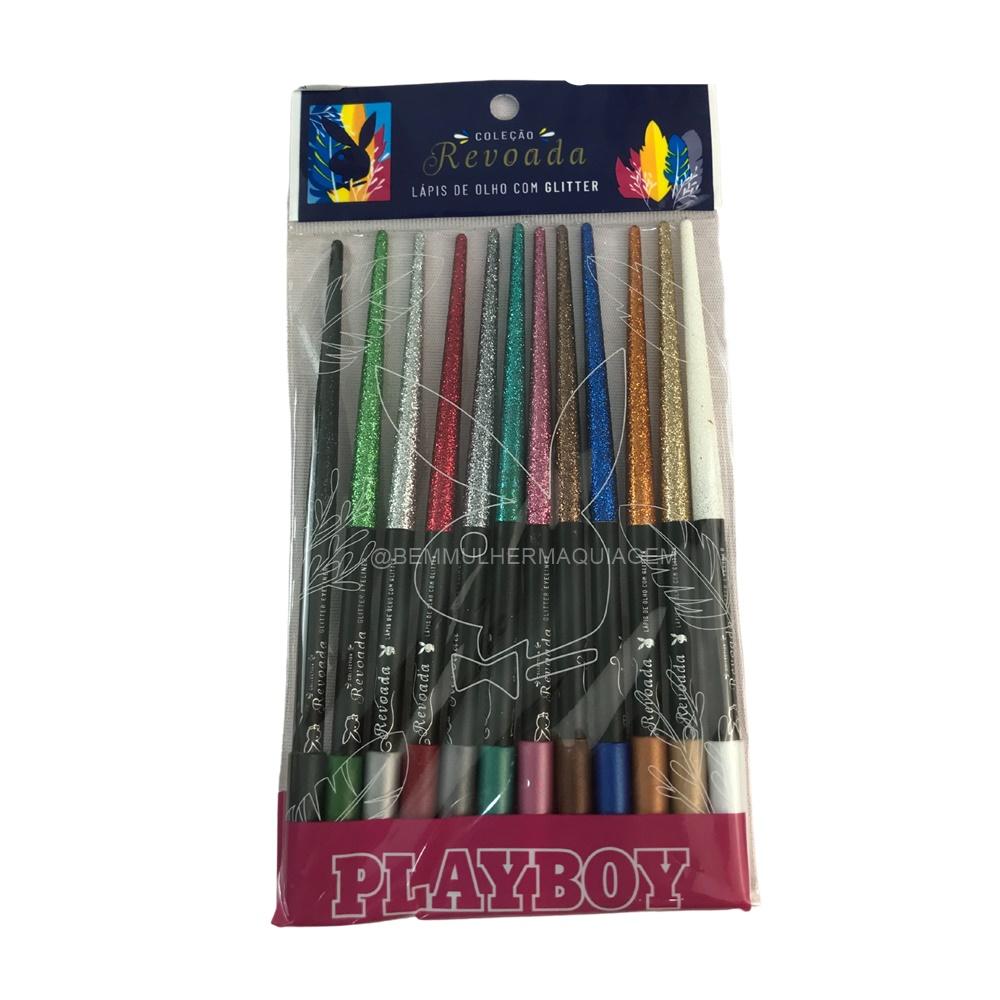 Lápis de Olho com Glitter Revoada - Playboy - Pct com 12un. (HB100314)