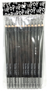 Lápis De Olhos Preto Com Apontador - Dapop - Pct com 12Un. (HB97451)