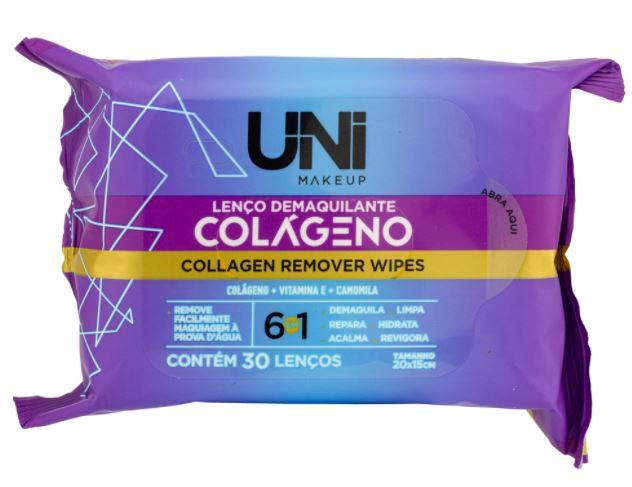 Lenço Demaquilante Colágeno - Uni Makeup  (UNLU172BX)