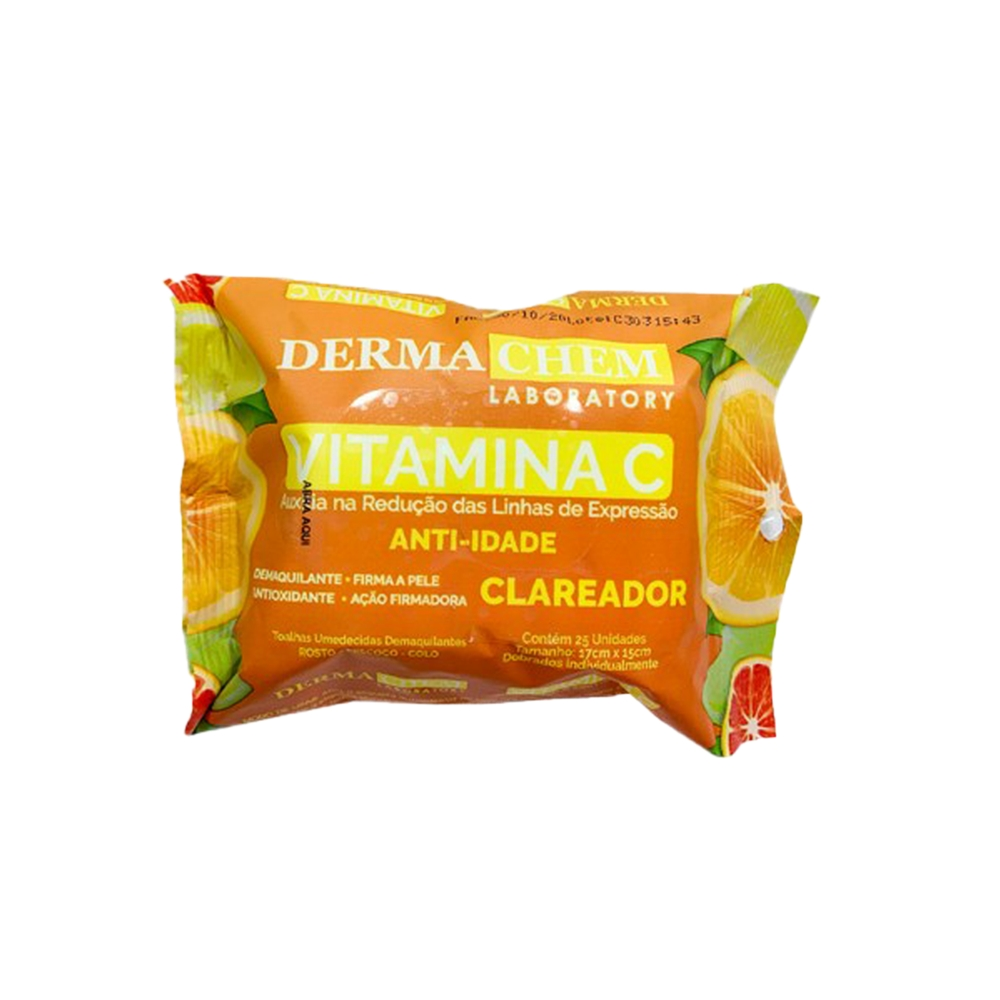 Lenço Demaquilante Vitamina C - Dermachem