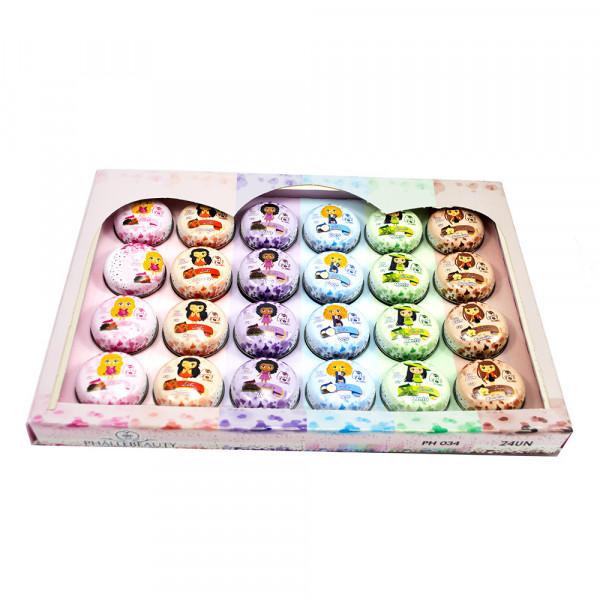 Lip Balm Girls Colecionáveis - PhalleBeauty - Box com 24Un. (PH034)