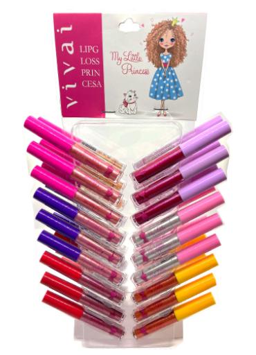 Lip Gloss Princesa - Vivai - Cartela com 36Un. (3082.1.1)