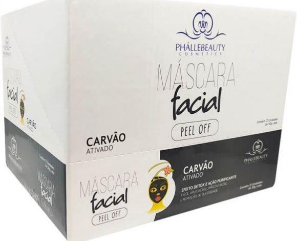 Máscara Carvão Ativado Bisnaga Peel Off - Phállebeauty  (PH0051)