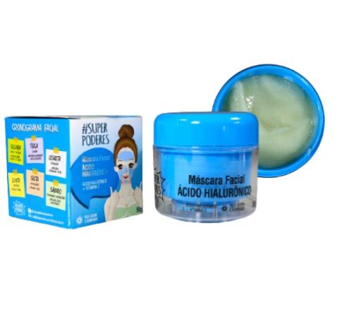 Máscara Facial Ácido Hialurônico  - Super Poderes (AHSP01)