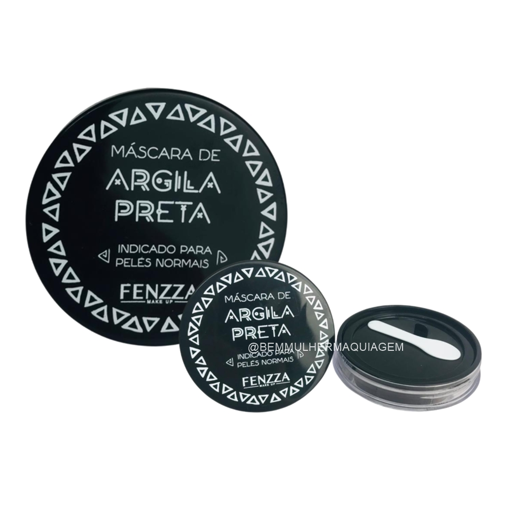 Máscara Facial de Argila Preta - Fenzza  (FZ38026)
