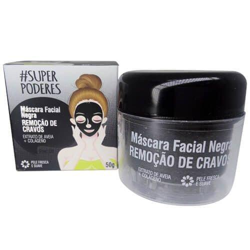 Máscara Facial Negra Remoção de Cravos  - Super Poderes (RCSP01)