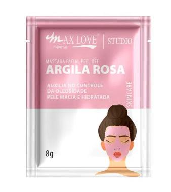 Máscara Facial Peel Off Argila Rosa - Max Love - Box com 60Un.