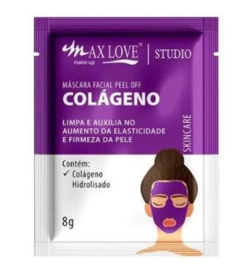 Máscara Facial Peel Off Colágeno - Max Love - Box com 60Un.