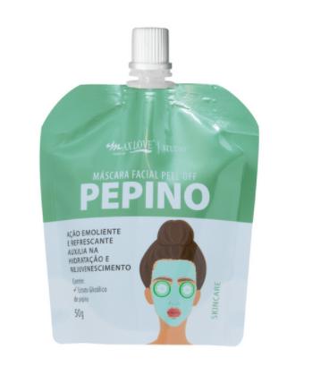 Máscara Facial Pouch Total Pepino - Max Love - (MXPTP)