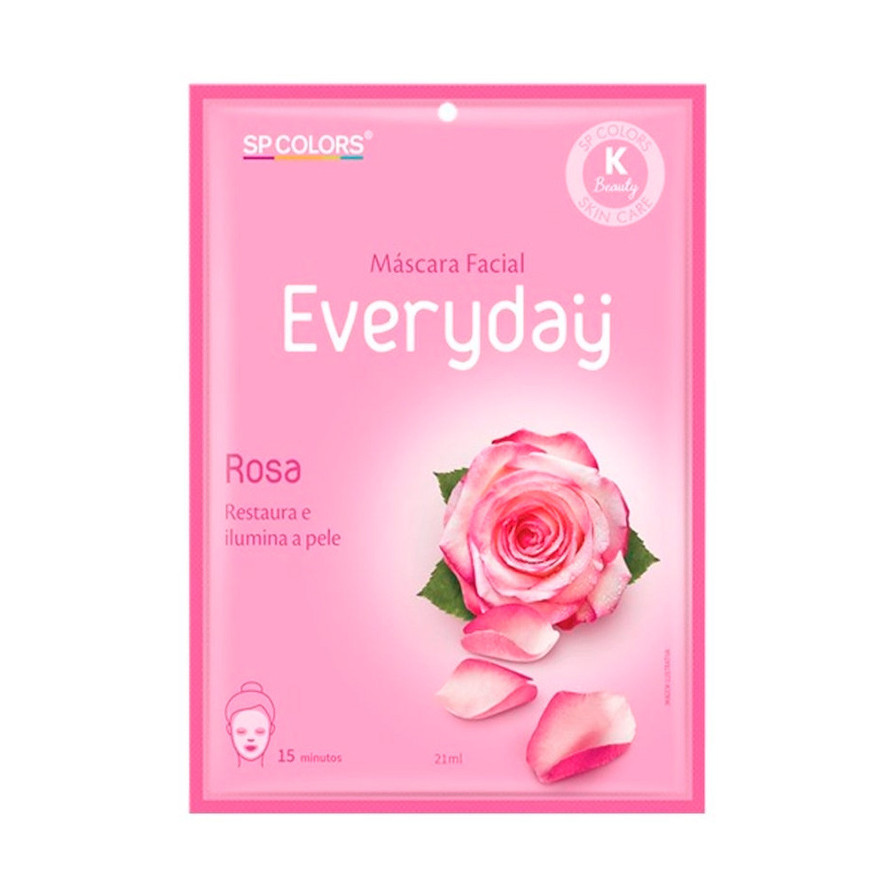 Máscara Facial Rosa Everyday - Sp Colors (EV001)