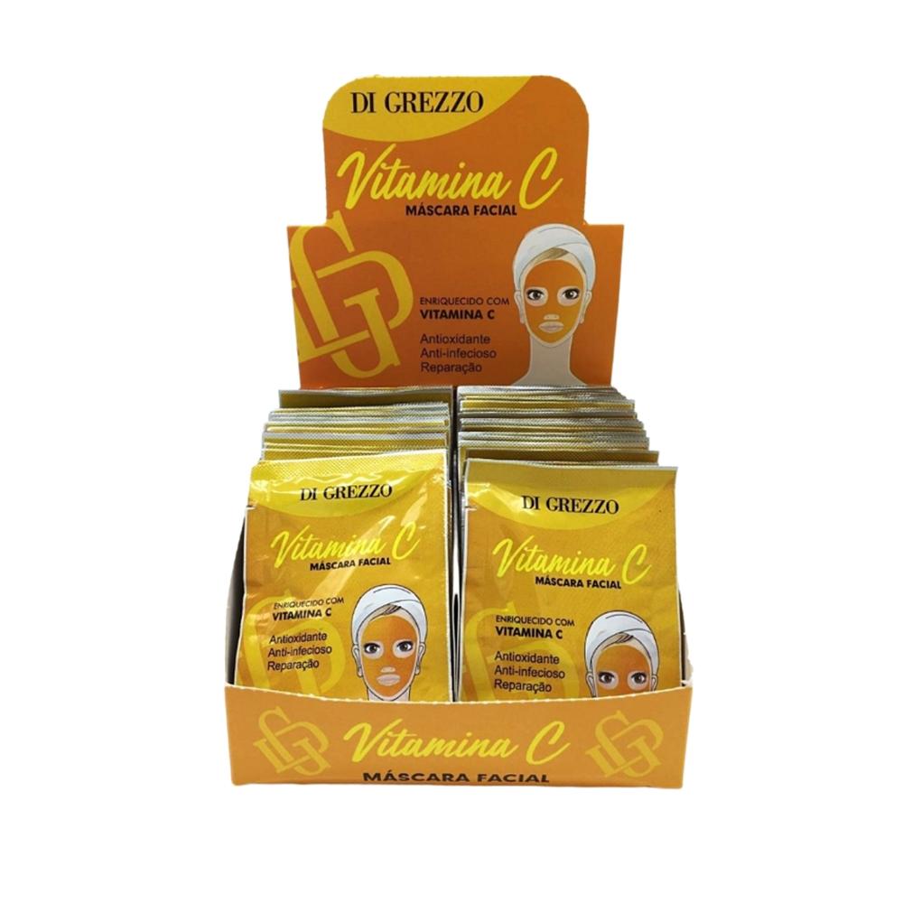 Máscara Facial Vitamina C - Di Grezzo - Box com 50Un