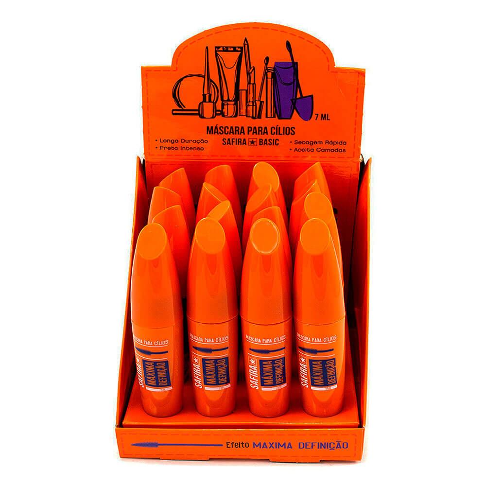 Máscara para Cílios Máxima Definição - Safira - Box com 16Un.