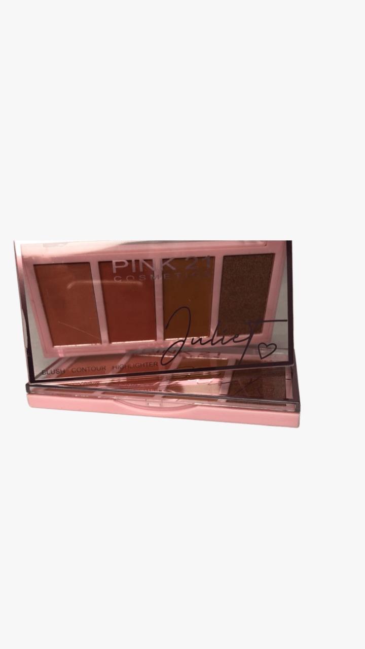 Paleta de Blush Contorno Juliet - Pink 21 Cor 3 (CS3114C)