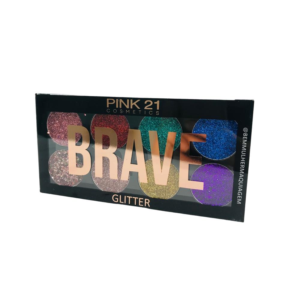 Paleta de Glitter Brave cor B - Pink 21 (CS2730B)