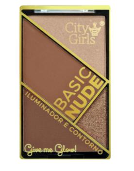 Paleta de Iluminador e Contorno Basic Nude - City Girls Cor A (CG152A)