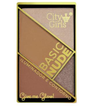 Paleta de Iluminador e Contorno Basic Nude - City Girls Cor B (CG152B)