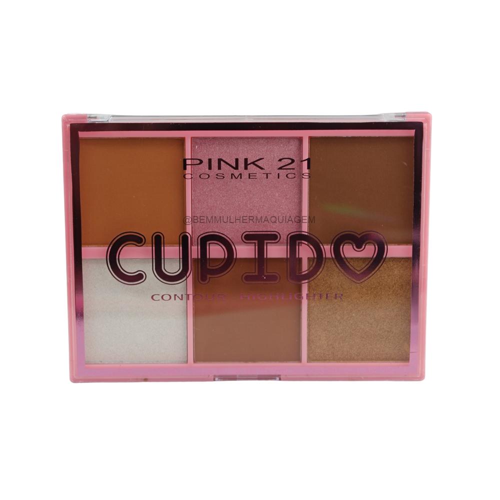 Paleta de Iluminador e Contorno Cup Id - Pink 21 Cor 1 (CS3006)