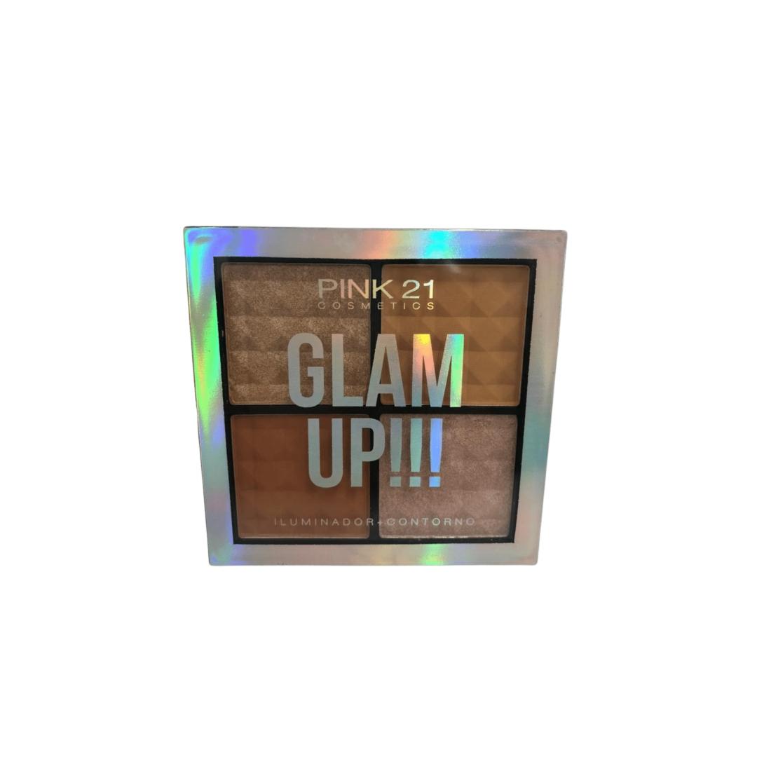 Paleta De Iluminador e Contorno Glam Up - Pink 21  Cor 2  (CS2390B)