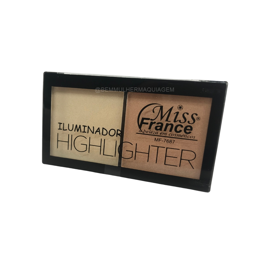 Paleta de Iluminador Highlighter - Miss France Cor 2 (MF7687B)