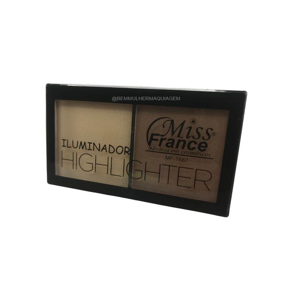 Paleta de Iluminador Highlighter - Miss France Cor 4 (MF7687D)