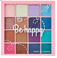 Paleta de Sombra Be Happy 16 Cores - City Girls COR B (CG184B)