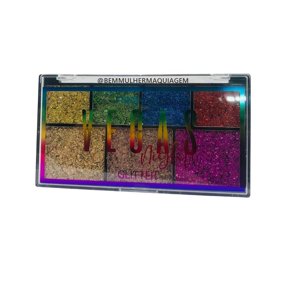 Paleta de Sombra Glitter Vegas Nigth Cor B - Pink 21 (CS2776B)