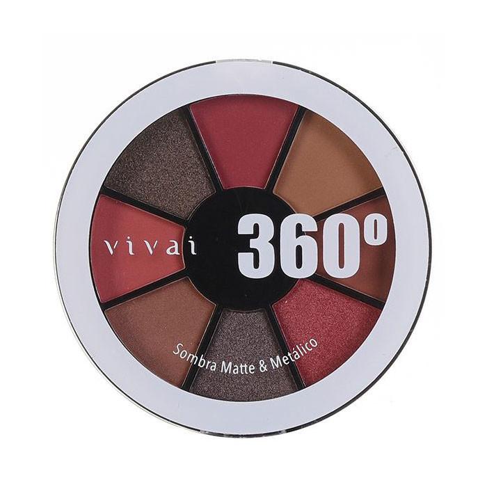 Paleta de Sombra Matte/Metálico 360 Cor 01 (4040.9.1) - Vivai