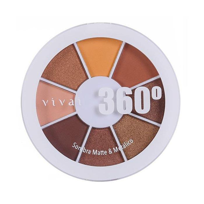 Paleta de Sombra Matte/Metálico 360 Cor 02 (4040.9.1) - Vivai