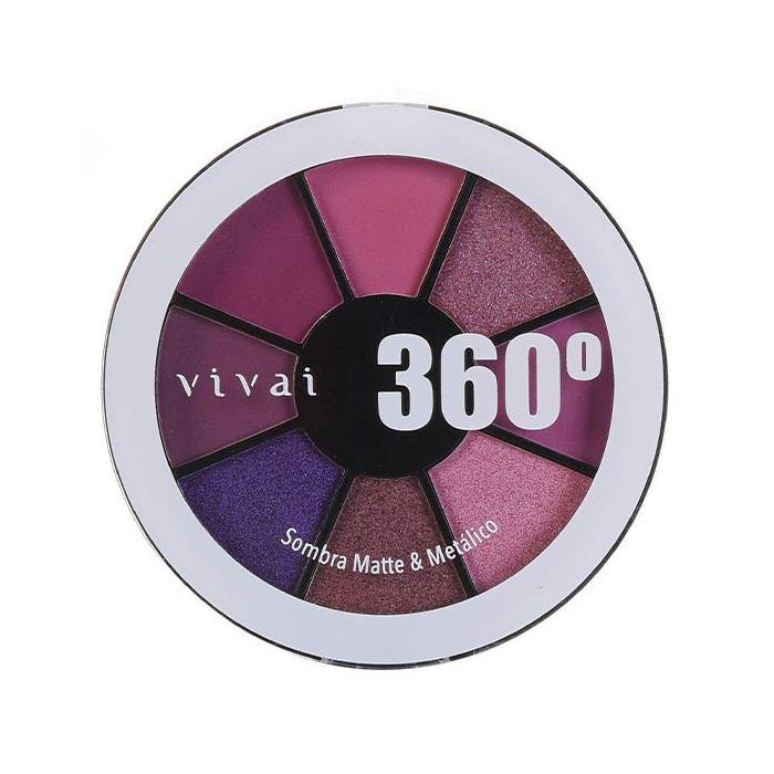 Paleta de Sombra Matte/Metálico 360 Cor 03 (4040.9.1) - Vivai