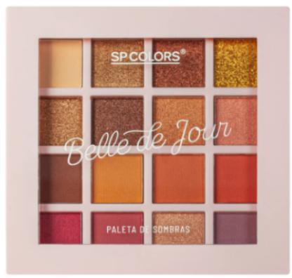 Paleta de Sombras 16 Cores Belle de Jour - Sp Colors Cor A (SP236A)