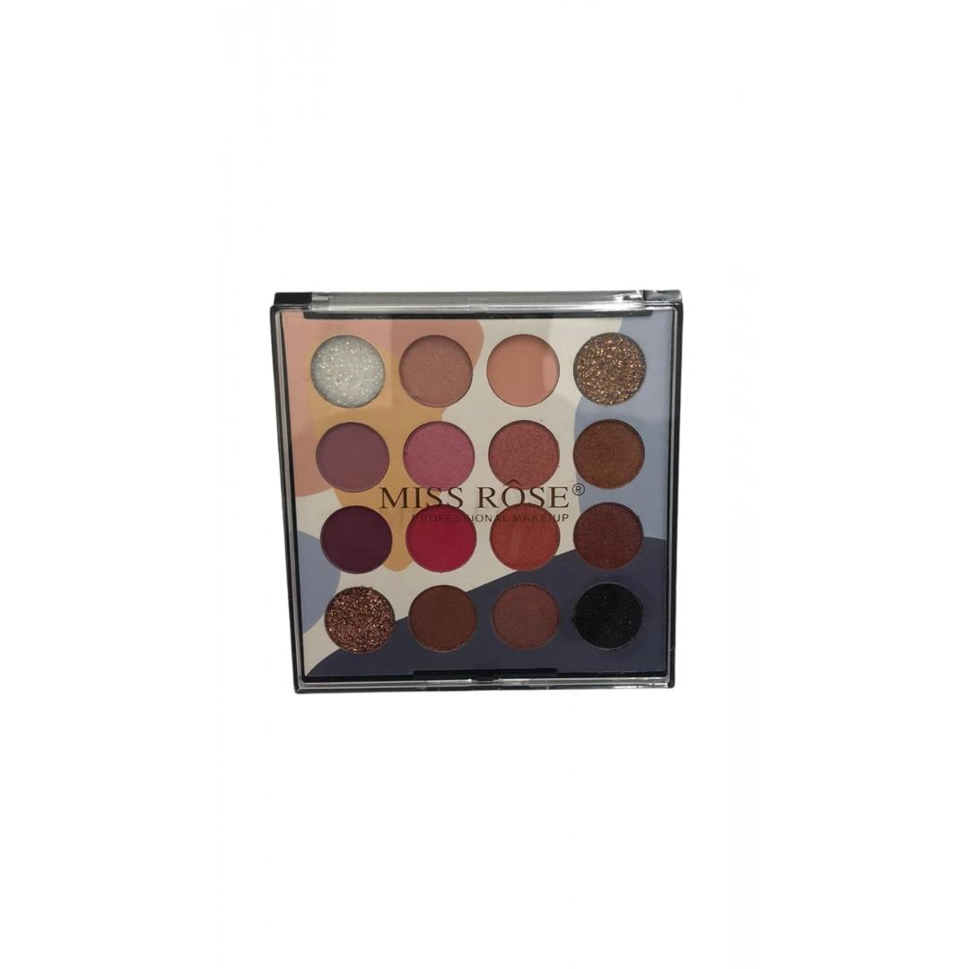 Paleta de Sombras 16 Cores Cor 1 - Miss Rose (7001-007Z12)
