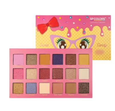 Paleta de Sombras 18 Cores Sweet Candy  - Sp Colors Cor 1 (SP231A)