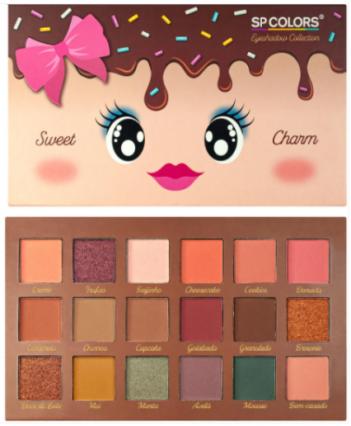 Paleta de Sombras 18 Cores Sweet Charm - Sp Colors Cor 2 (SP231B)