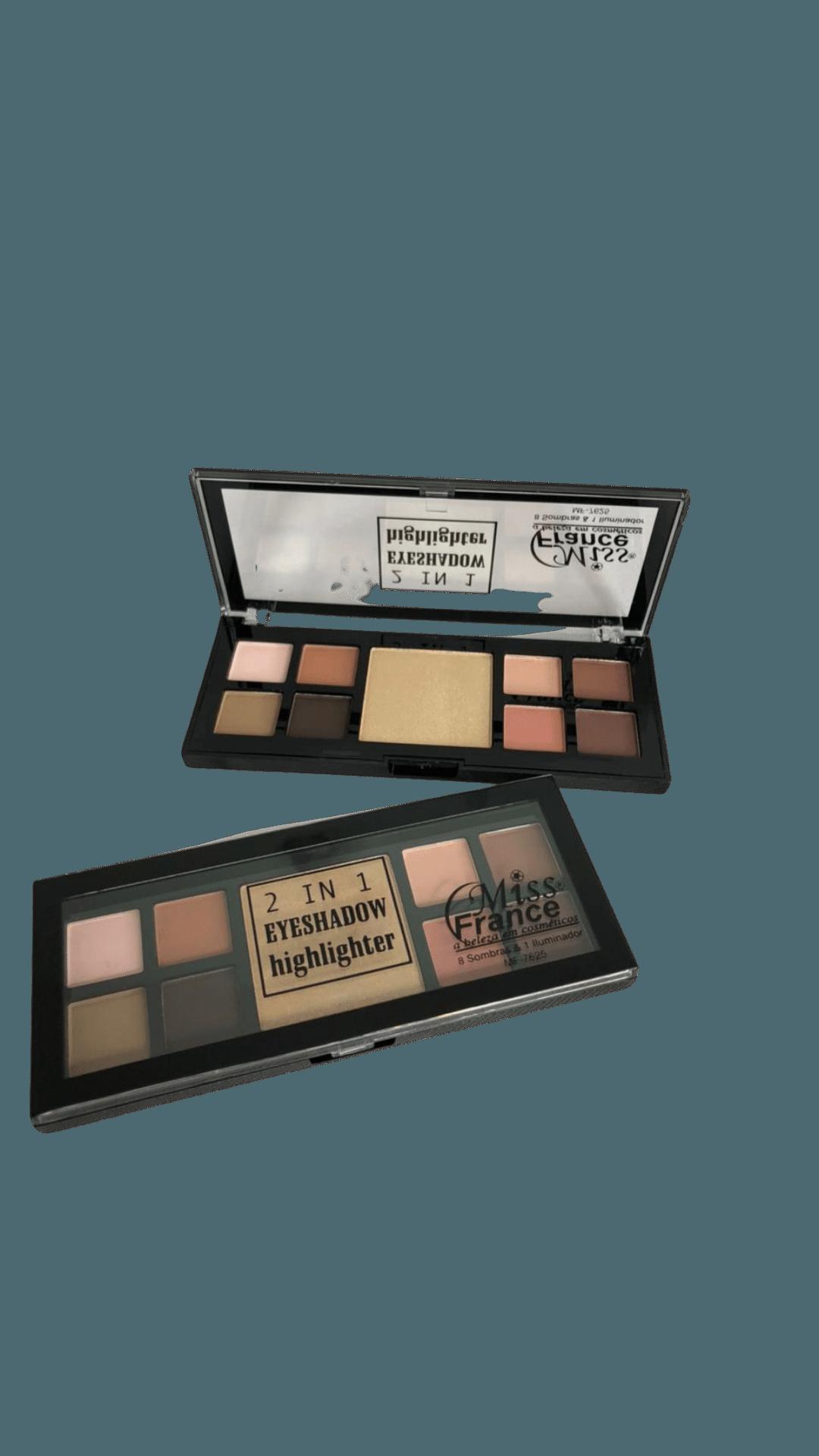 Paleta de Sombras 2 IN 1 Eyeshadow Highlighter C2 - Miss France (MF7625B)