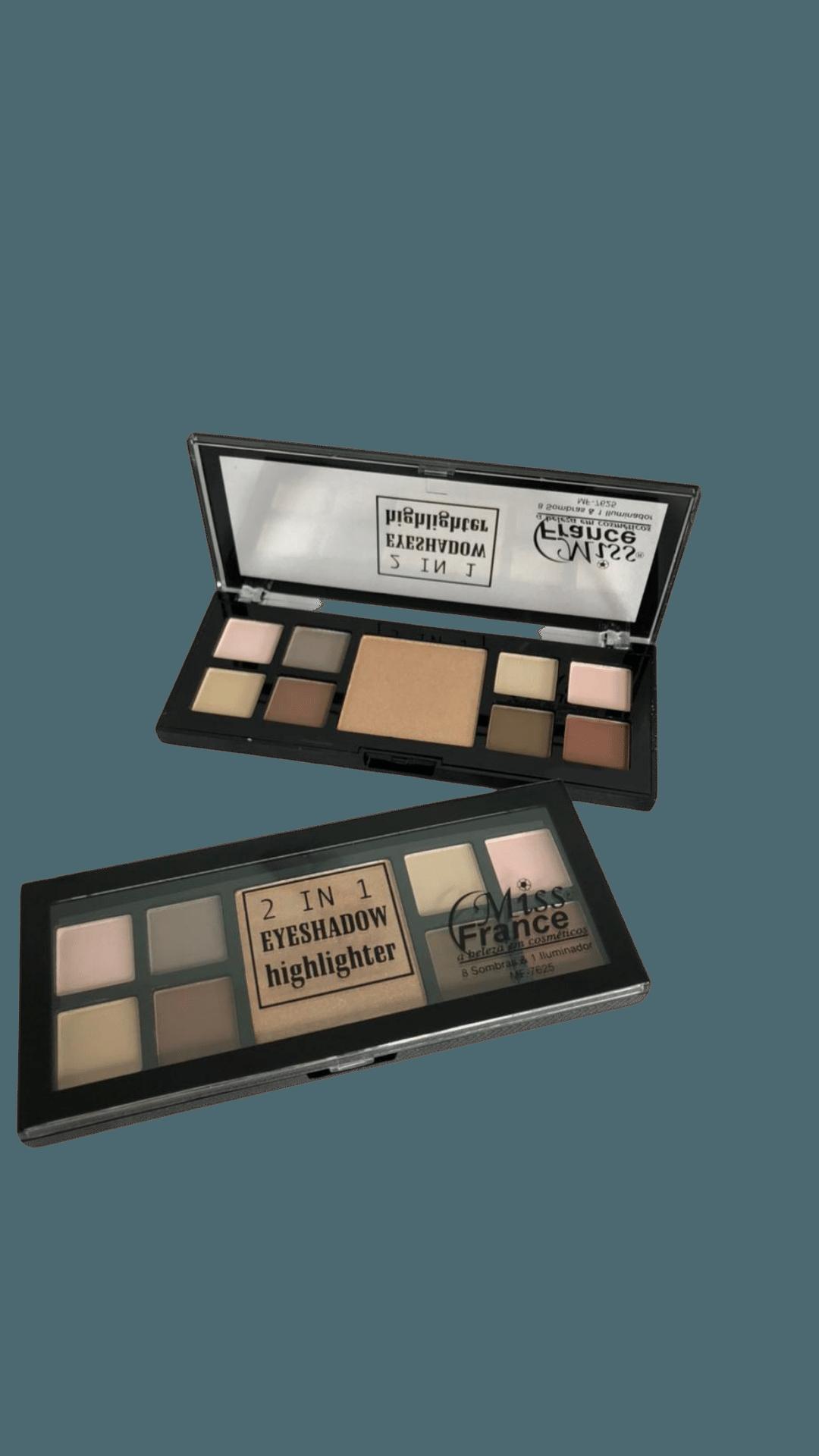 Paleta de Sombras 2 IN 1 Eyeshadow Highlighter C3 - Miss France (MF7625C)