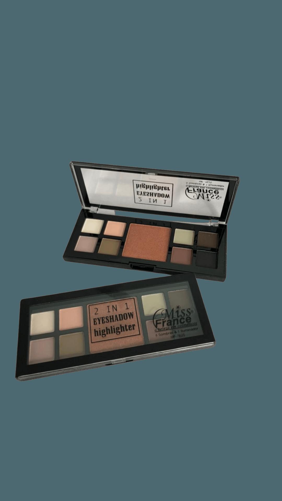 Paleta de Sombras 2 IN 1 Eyeshadow Highlighter C4 - Miss France (MF7625D)