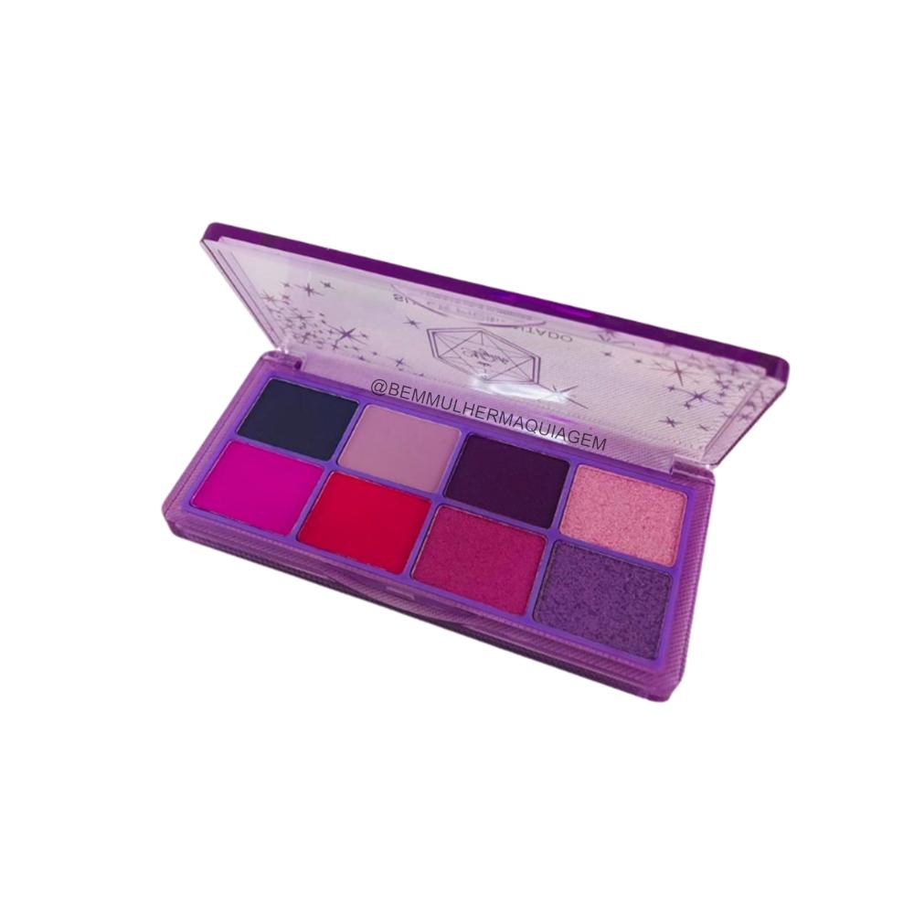 Paleta De Sombras 8 Cores Super Pigmento Cor 02 My Life (MY8269B)