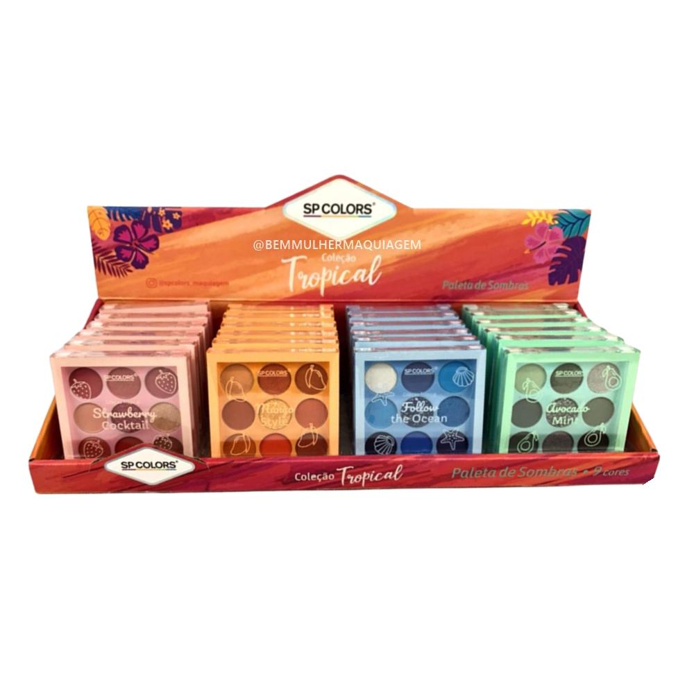 Paleta de Sombras 9 Cores Avocato Mint Cor D - Sp Colors (SP222D)