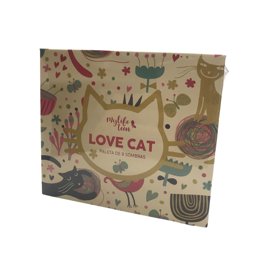 Paleta de Sombras 9 Cores (Love Cat) Cor 3 - My Life  (MY8272)