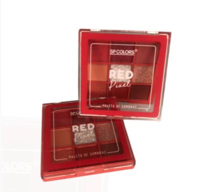 Paleta de Sombras 9 Cores Red Pixel - Sp Colors Cor A (SP227A)
