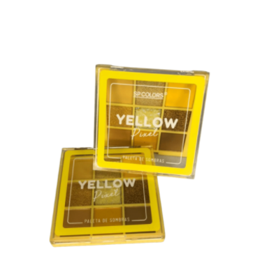 Paleta de Sombras 9 Cores Yellow Pixel - Sp Colors Cor B (SP227B)