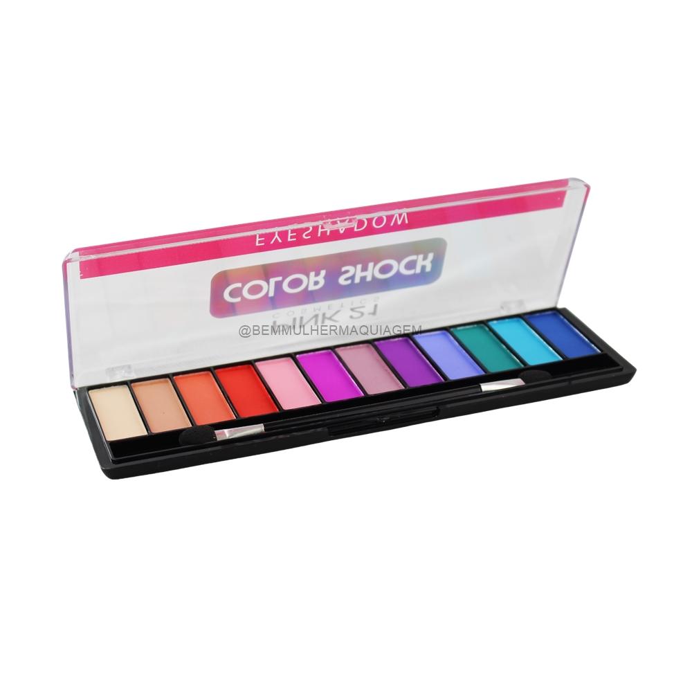 Paleta de Sombras Color Shock - Pink 21 Cor A (CS2754A)