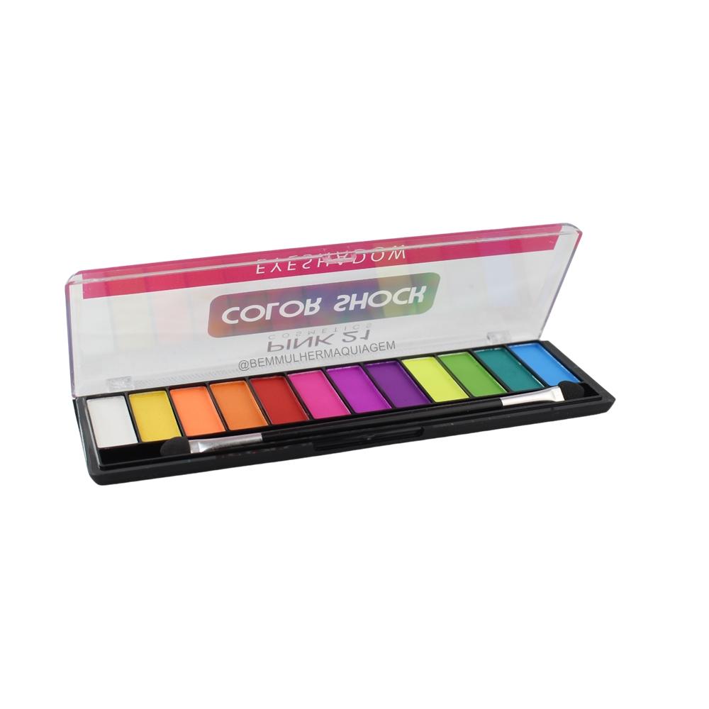 Paleta de Sombras Color Shock - Pink 21 Cor B (CS2754B)