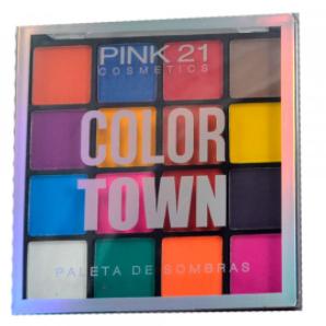Paleta De Sombras Color Town - Pink 21 Cor A  (CS2429)
