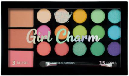 Paleta de Sombras Girl Charm - City Girls Cor A (CG249A)